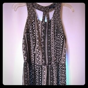 American Eagle Black White Abstract Dress Size 12